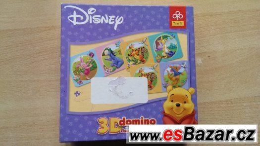 3D domino Medvídek Pú od Disneye