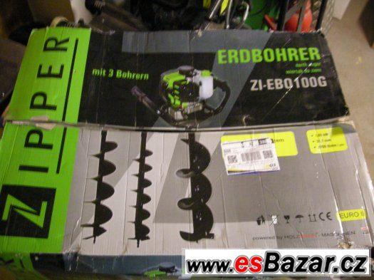 Zemní /půdní/ vrták ZIPPER ZI-EBO100G + 3 vrtáky