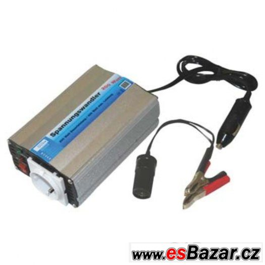 Měnič napětí, invertor Güde 12V na 230V max 400W