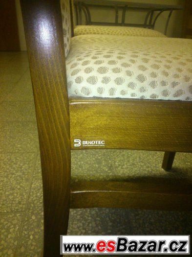 SLEVA 65% z p.c. - MASIVNÍ Kuchyňský stůl+4 židle