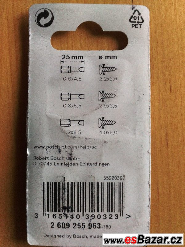 Bosch 3dílná sada bitů