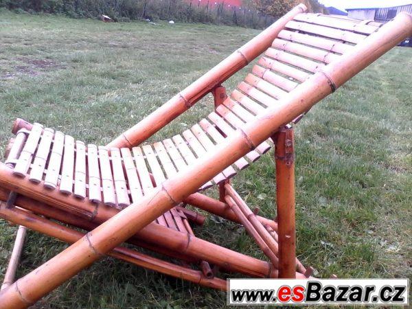 Bambusové polohovací křeslo