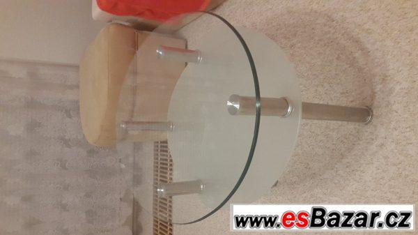 Elegantní oválný konfer. stolek