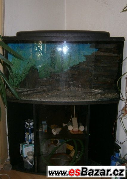 Akvárium set 180 litrů i se skříňí