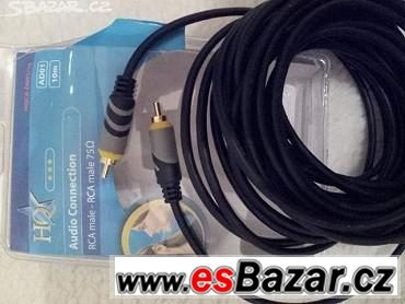 Audio kabel koaxiální 10m