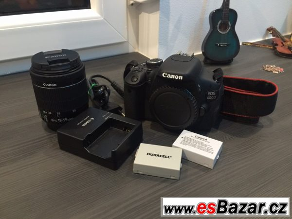 Canon D600 + 2bat + 18-55