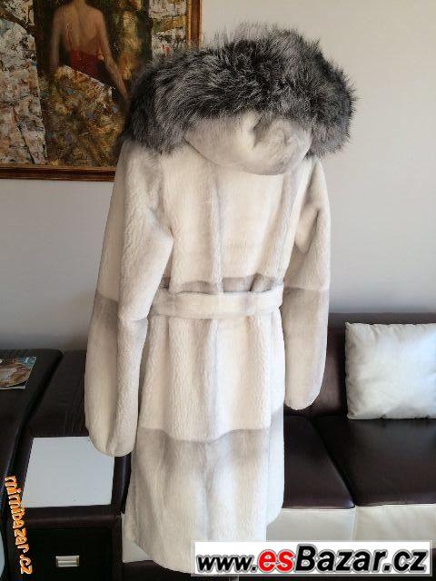 Lux.Norkový kožich - Silver Fox M L f23dbb4dd2