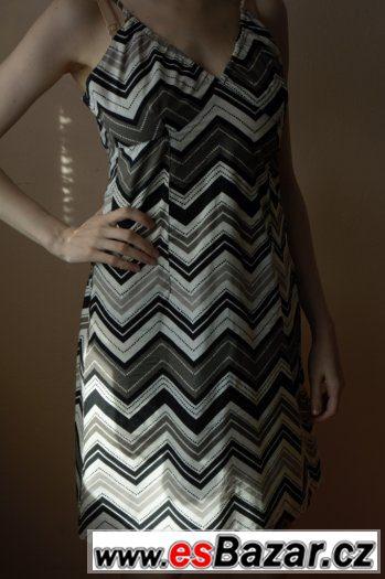 Prodám letní bavlněné šaty na ramínka bílo-černo-šedé bdedab2a4f