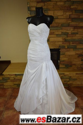 Nové bílé svatební šaty. Vzadu vázání. Míry prsa 80-90 25296edf89b