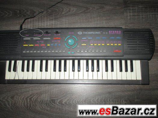 Dětské elektronické klávesy