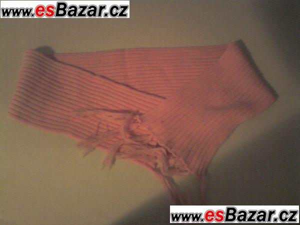 zimní růžová šál