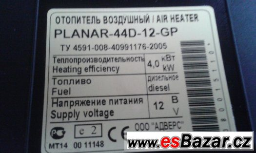 horkovzdusne naftove topeni vykon 4kw 12v