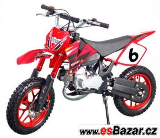Minicross YMH49ccm červená zabalená, mohu poslat po ČR
