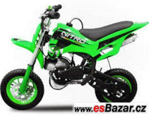 Minicross 3 zelený 49ccm pro děti, nový, zabalený