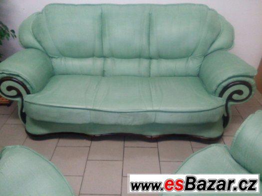 krásná kvalitní sedačka 3+1+1 zelená