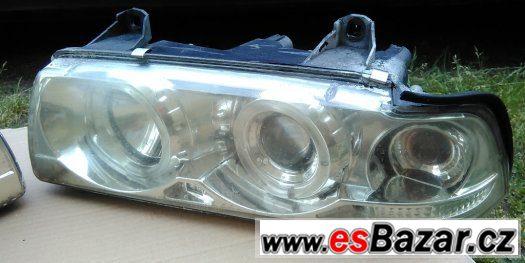 BMW e36 - Přední světla Angel eyes provedení Chrom