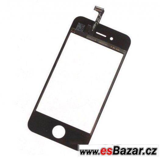Prodám černé přední sklo s digitizérem na iPhone 4s