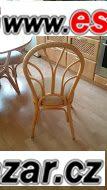 ratanový stůl + 4 židle
