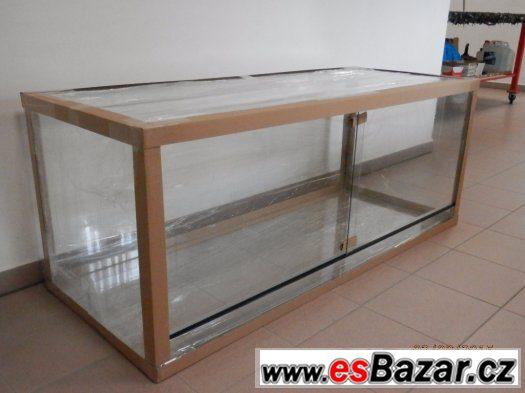 NOVÉ TERÁRIUM 200x 60x 60 cm, zabalené a připravené k transp