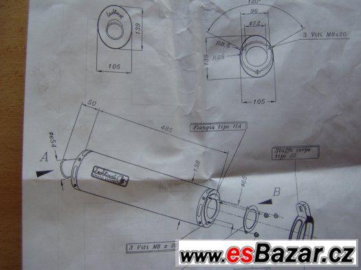 Kawasaki ZX6R 95-98 originál koncovka výfuku