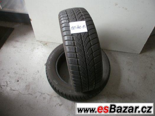 Prodám 2 x zimní pneu Platin 185/60-15