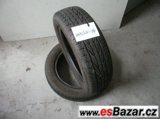 Prodám 2 x zimní pneu Apollo 155/65-14