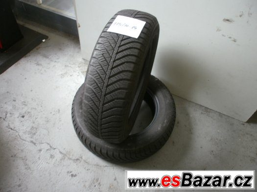 Prodám 2 x zimní pneu Goodyear 175/70-14