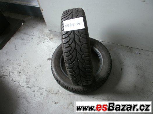 Prodám 2 x zimní pneu Fulda 155/65-14