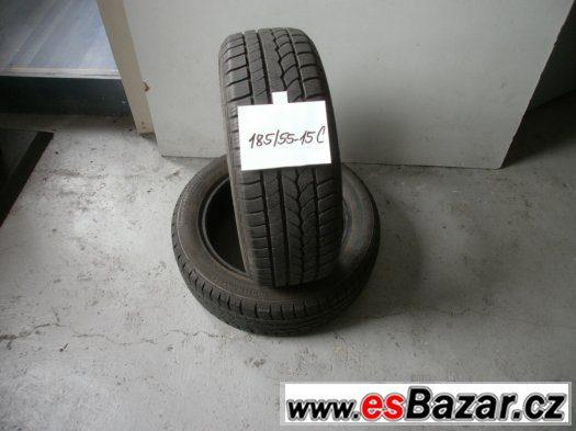 Prodám 2 x zimní pneu Continetal 185/55-15 C