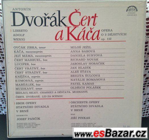 A.Dvořák - ČERT a KÁČA set na LP gramodeskách
