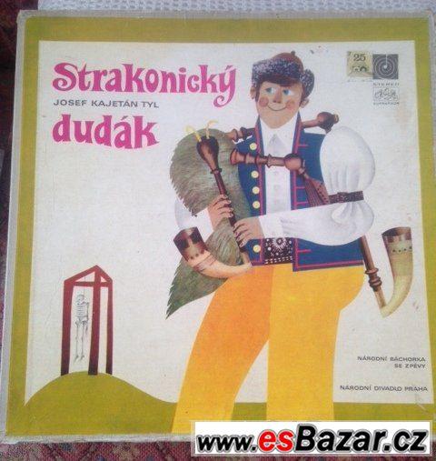 3x LP gramodeska: J.K.Tyl - pohádka STRAKONICKÝ DUDÁK (1971)