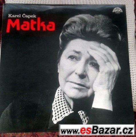 3x LP gramodeska: Karel Čapek MATKA (1984)