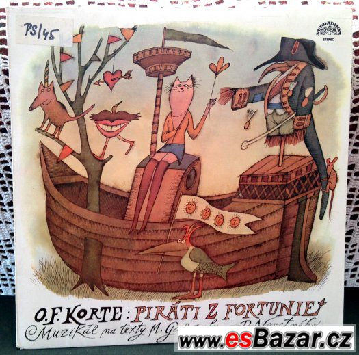 LP: Petr Novotný (obal A.Born) muzikál PIRÁTI Z FORTUNIE