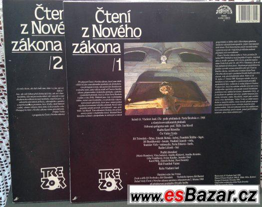 3x LP gramodeska: ČTENÍ ze STARÉHO a NOVÉHO ZÁKONA (Bible)