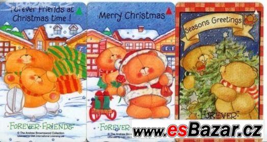 Singapore Telekom - vánoční medvědi - kocour Garfield - sety