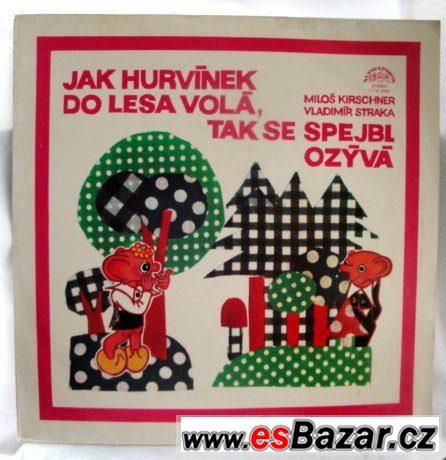 8xkus LP gramodesky pohádky Spejbl,Hurvínek,Mánička a Žeryk