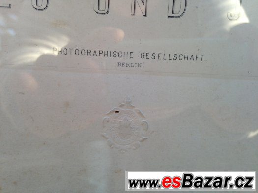 Romeo & Julie - obrovský starý obraz - pod sklem (BERLIN)