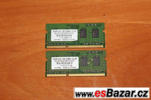 Operační paměť SO-DIMM DDR3 2x1GB 1333MHz