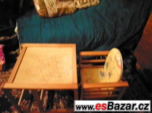 stoleček+židlička
