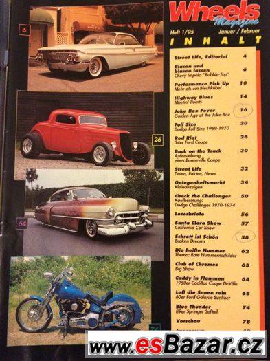 Časopis Wheels z roku 1995, Ouldtimers apod.