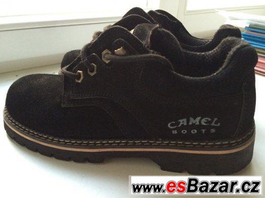 Pánské zimní boty značka Camel, černý semiš.