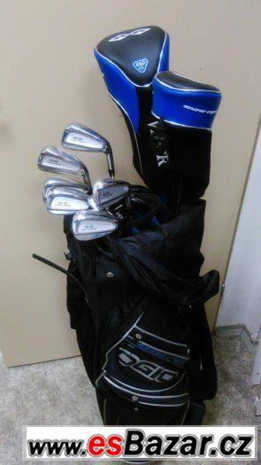 Golf bag a sadu holí a želez značky snake eyes