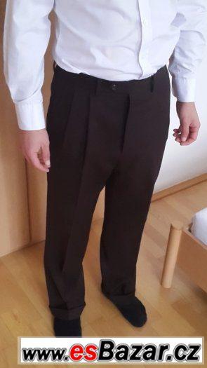 Hnědé kalhoty RALPH LOREN