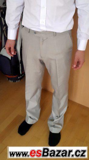 Kalhoty světle šedé