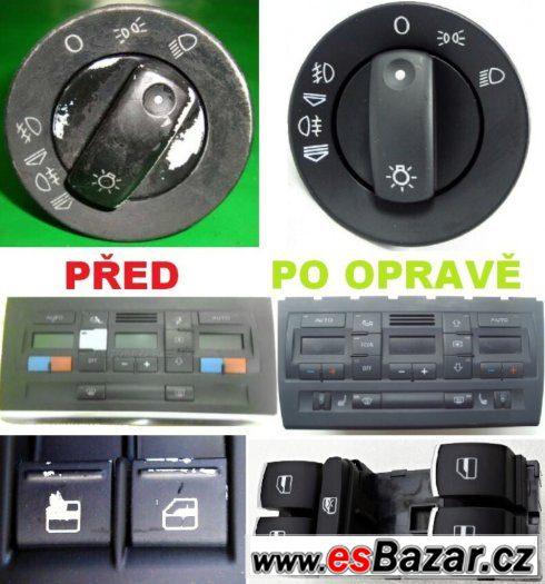 Šablony k opravě tlačítek a spínačů Audi, Volkswagen, Škoda