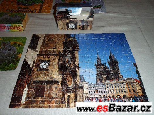 Puzzle 160 dílků JÁGR + 120 dílků PRAHA + další puzzle