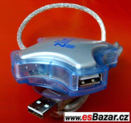 USB rozbočovač 4 porty do jednoho - USB port hub ----NOVÝ---