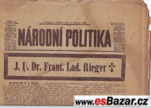 Noviny z roku 1903