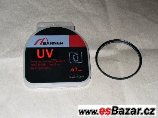 Prodám UV filtr 67 mm