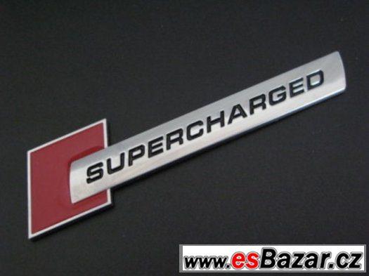 Supercharged logo VW, Škoda, Audi
